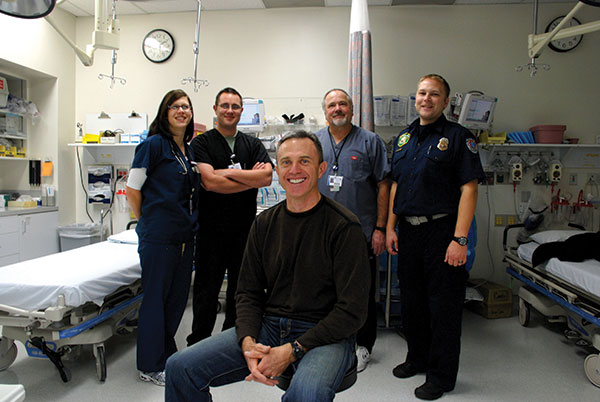 Dr. Scott Van Wagoner (front) is one of the experienced professionals making American Fork Hospital's emergency room great for patients.