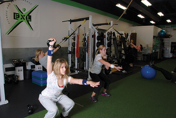 "One of EXL's most popular classes is the womens-only boot camp — ""Camp Betty."""
