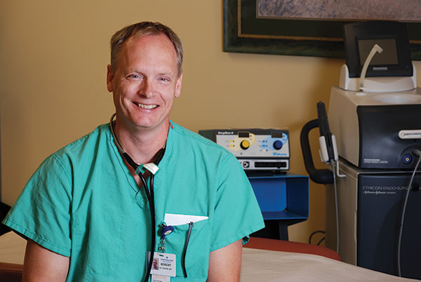 Dr. Robert Patterson, a general surgeon at American Fork Surgical Associates, works hard to make patients feel comfortable before taking care of their medical needs.