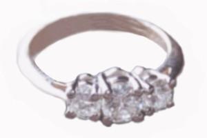 PIONEER DIAMONDS CO. three diamond princess cut