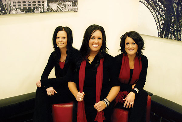 Prestige Day Spa's management team, left to right: assistant manager Kassi Thorpe, owner/manager Jessica Graff and lead stylist Ashlee Jones.