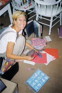 "Desiree Tanner turned a life-long passion for scrapbooking into a profitable career. As the product development specialist for Roberts Crafts, she has appeared several times on QVC selling scrapbook supplies and has had two books published. ""It's the ultimate craft,"" she says. ""You never tire of looking at the faces of those you love."" Desiree's scrapbooking room in her house has shelves full of scrapbooks she's done for her children and husband. She's also working on a ""girlfriend scrapbook,"" with pictures like this of herself and her many scrapbooking friends."