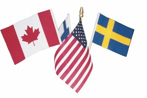 The four Nations Tournament included women's hockey teams from the United States, Canada, Sweden and Finland. Provo City had flags of the four countries around the city streets and in The Peaks Ice Arena.