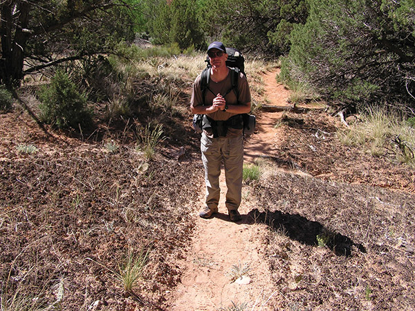 Jim Lindow says one of the hardest parts of chemotherapy and radiation treatments was the physical toll it took on his body. Since recovering from melanoma, Jim has enjoyed a return to nature, including this hike through Grand Gulch in southeastern Utah.