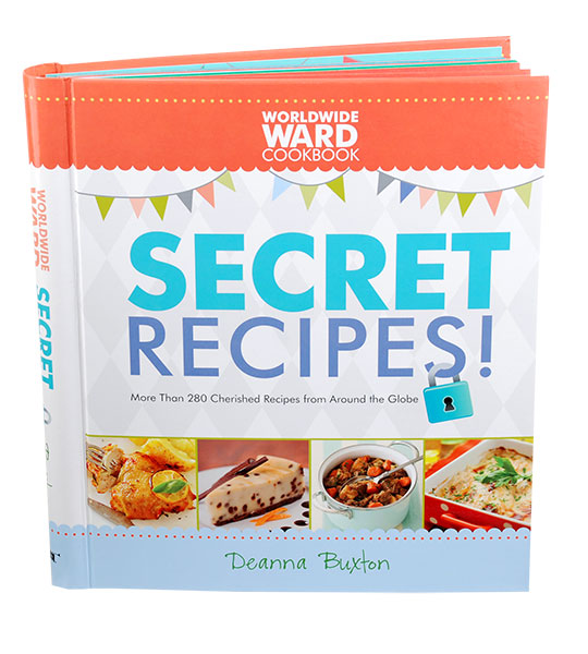 The Secret's Out    Every family has secrets — especially in the kitchen. In this volume of the Worldwide Ward Cookbook, author Deanna Buxton of Pleasant Grove compiles recipes from all 50 states and nearly 30 other countries, revealing special ingredients and cooking tricks. With more than 300 recipes, from the classic spaghetti and meatballs to the exotic tandoori chicken to the creative trash-bag taco salad, the secret's out for curing the dinner-time blahs. www.deseretbook.com