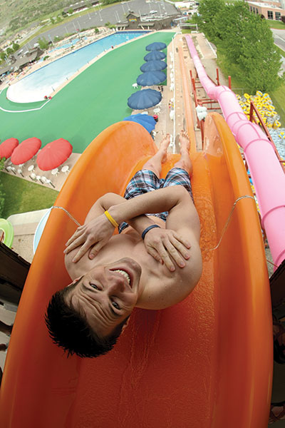 """The """"Free Fall"""" water slide at Seven Peaks stands 100 feet tall. Other sky-high water slides include the """"Jagged Edge"""" and the """"Speed Breaker."""""""