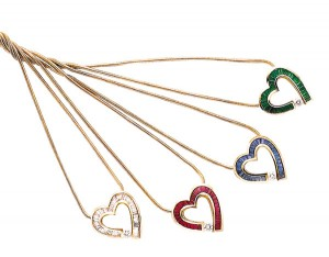 Mother's Heart Pendant Necklaces