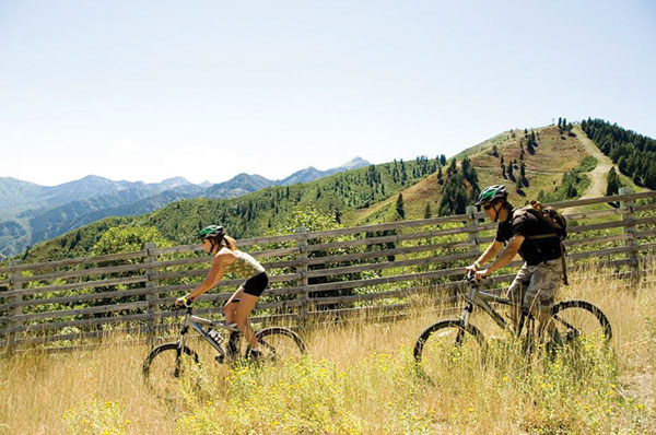 Tough bikers can ride 50 miles of first-class downhill in an afternoon at Sundance.