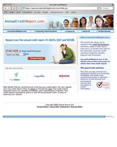 AnnualCreditReport.com is a bureau-approved, centralized service where you can request your free credit report once a year and your credit score for a small fee.