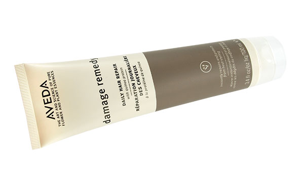 AVEDA Damage Remedy   This hair repair treatment from AVEDA has plant-derived proteins, and its essential oils (bergamot, mandarin and ylang ylang) give it a fresh scent. Available at Remedez in University Mall.