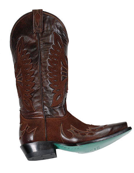 Rustic Firebird Boots Ready to kick your look up a notch? Try these boots, featuring a rich shade of nutmeg and turquoise painted leather soles.