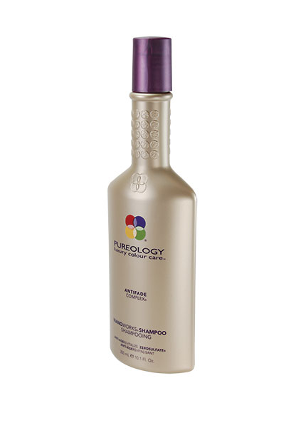 PUREOLOGY SHAMPOO If you are looking for a shampoo that will do more than just clean your hair, PUREOLOGY is beauty in a bottle. It minimizes color fading and leaves locks swinging and shining. Available at Suggestions Salon in Orem.