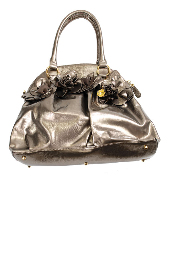 The Azlene Bag Fun, casual, and eye grabbing, this metallic bag has plenty of pockets, adjustable shoulder straps and a top zipper.