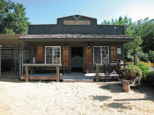 "The Prescotts have a working saloon on their property. They've hosted parties and weddings on their grounds and plan to offer more wedding services in the future. In the winter, they replace the swinging door with an insulated door so they can enjoy the ""Dead Cat Saloon"" year-round."