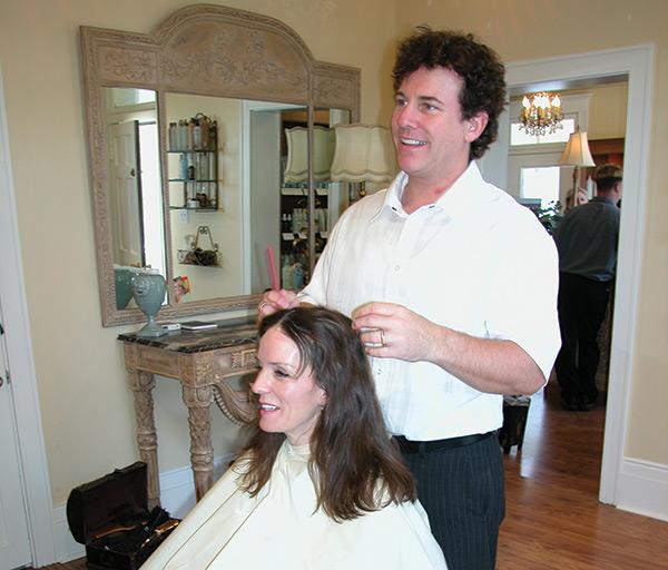 Woman-getting-hair-done-II
