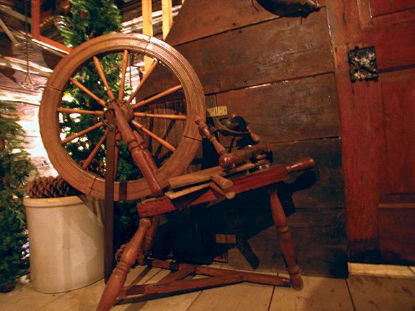 spinning-wheel-in-cabin