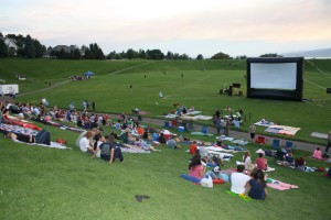 There are movies in the park  showing at dusk throughout Utah Valley during the month of August. (Photo courtesy Eric Layton)
