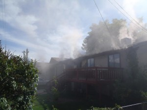 The house fire was started by smoking materials. (Photo courtesy of Provo Fire Department)