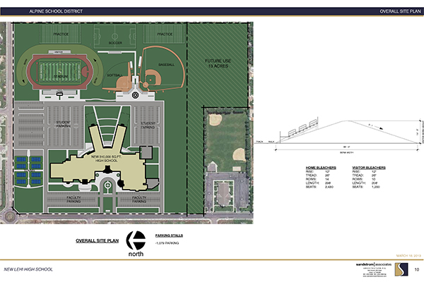 The new north Lehi high school will begin construction this fall. It's anticipated the school will be open for students beginning in August 2016.