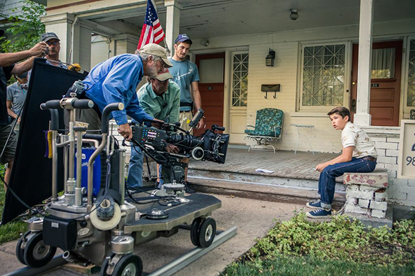 """Much of BYUtv's """"Granite Flats"""" is being shot in Utah Valley. This scene was shot at the Olmstead power plant at the mouth of Provo Canyon -- a group of turn-of-the-century buildings that serves as the show's military base. (Photo courtesy of BYUtv)"""