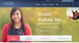 "This is a screen shot of the ""Come, Follow Me"" teaching program website. The program was initiated eight months ago. (Photo courtesy of LDS Church)"