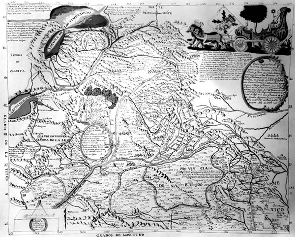 This early map outlines the Domínguez and Escalante expedition. (Photo courtesy of Utah State Historical Society)