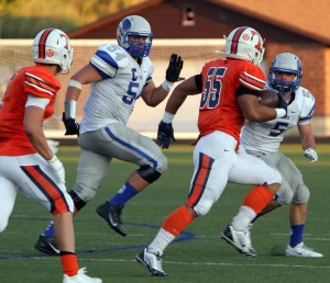 Pleasant Grove's Zac Dawe (54) has committed to play at BYU. (Photo by Margaret Lindsay)