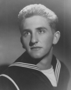 Thomas S. Monson at age 17 in 1945, just after he enlisted in the Navy.