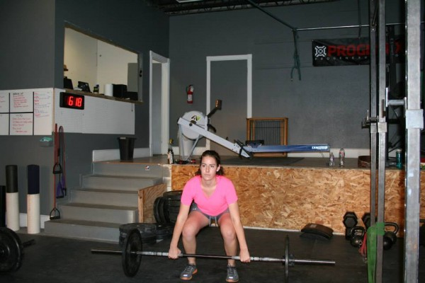 Kathryn Oakes lifts the bar in a workout at Generator Crossfit in Provo. (Photo courtesy Generator Crossfit)
