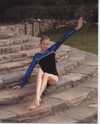 Jennifer Hamson wasn't always shooting the basketball or spiking the volleyball, but she started out as a gymnast. (Photo courtesy of Hamson family)