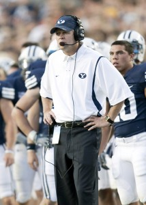 Bronco Mendenhall became head coach of BYU's football team in 2004. (Photo courtesy of BYU Photo)
