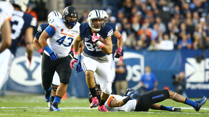 Tight end Kaneakua Friel caught three passes for 53 yards.