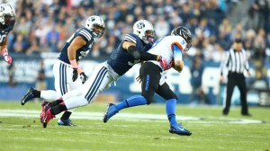 Kyle Van Noy continued to live up to his All-American status ... (Photo by BYU Photo.)