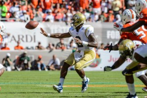 Six-foot-one, 215-pound quarterback Vad Lee will lead a potent Georgia Tech ground attack Saturday night at 5 p.m. in LaVell Edwards Stadium.