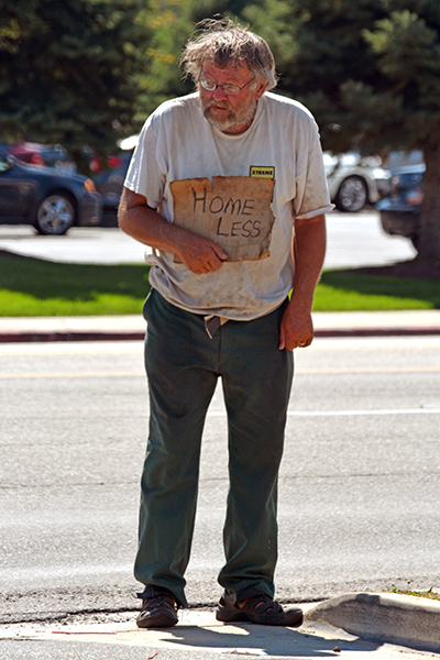 Local law enforcement officers have discovered that 70 to 80 percent of panhandlers are not homeless.