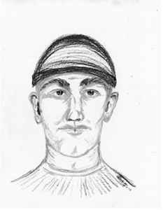 The Provo Police Department released a sketch of one of the suspects. (Photo courtesy of Provo Police Department)