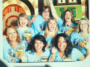 Jessica Villeneuve, front row on the right side, poses with her friends before competing on The Price is Right. Villeneuve will be in the episode that airs on Oct. 7 at 10 a.m. on CBS.
