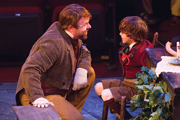 """""""A Christmas Carol"""" has played every year since Hale Center Theater's opening in 1990. Founder Nathan Hale was the first to be Ebenezer Scrooge."""