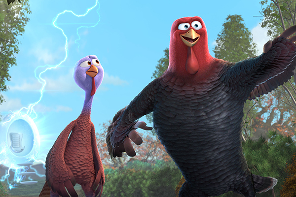 Two turkeys (Owen Wilson and Woody Harrelson) travel back in time in an attempt to get turkey off the holiday menu.