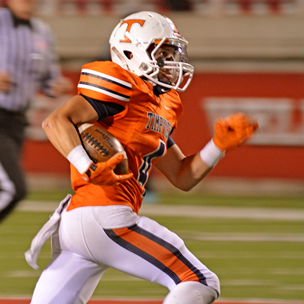 During the fourth quarter Porter Case set up another Timpview TD with this lone punt return.