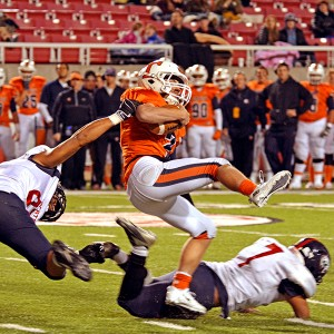 What makes Covey such an interesting athlete to watch is the way he keeps his feet going and extends plays.