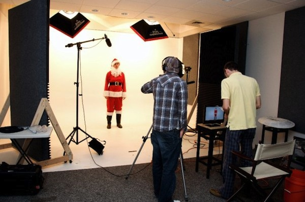 """The Orabrush Guy"" Austin Craig dresses in a Santa Suit for the filming of ""the Stench that Stole Christmas."" The Orabrush YouTube channel has almost 200,000 subscribers and more than 42 million views. (Photo courtesy Austin Craig)"