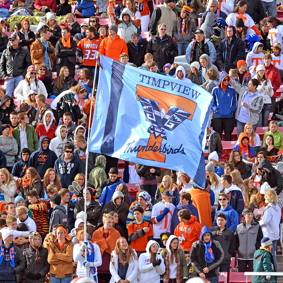 Timpview fans watched on as the Timpview defense did just enough to win.