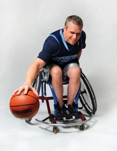 Orem father Darrell Mauerman is a key member of the Utah Wheelin' Jazz, a championship division team based in Salt Lake City. (Photo by Dave Blackhurst)