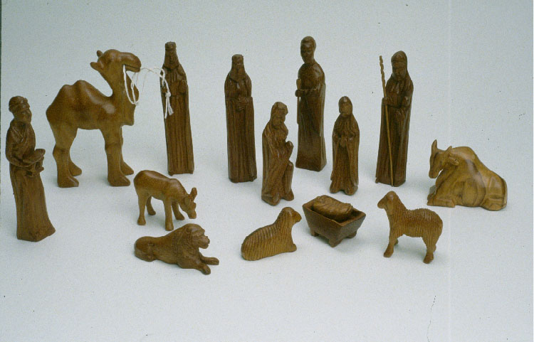 This nativity set from Ghana will be on display. Several unique crèche (nativity) sets from around the world will be on display as part of the exhibit. Photo courtesy Church History Museum.