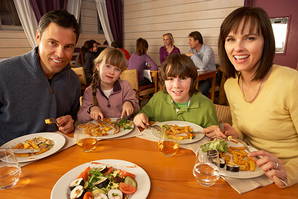 Natalie Hollingshead discusses the adventures of eating out with young children.