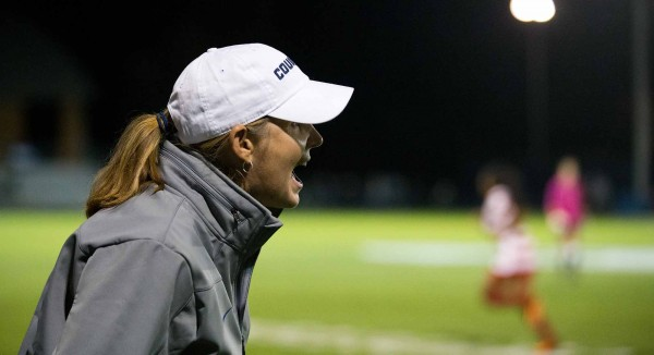 Jennifer Rockwood has 300 wins and counting as the head women's soccer coach at BYU. (Photo by Jaren Wilkey/BYU Photo)