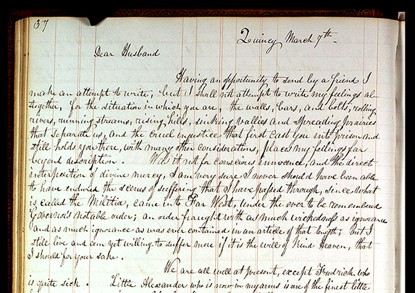 This letter, written by Emma Smith to Joseph Smith, ...