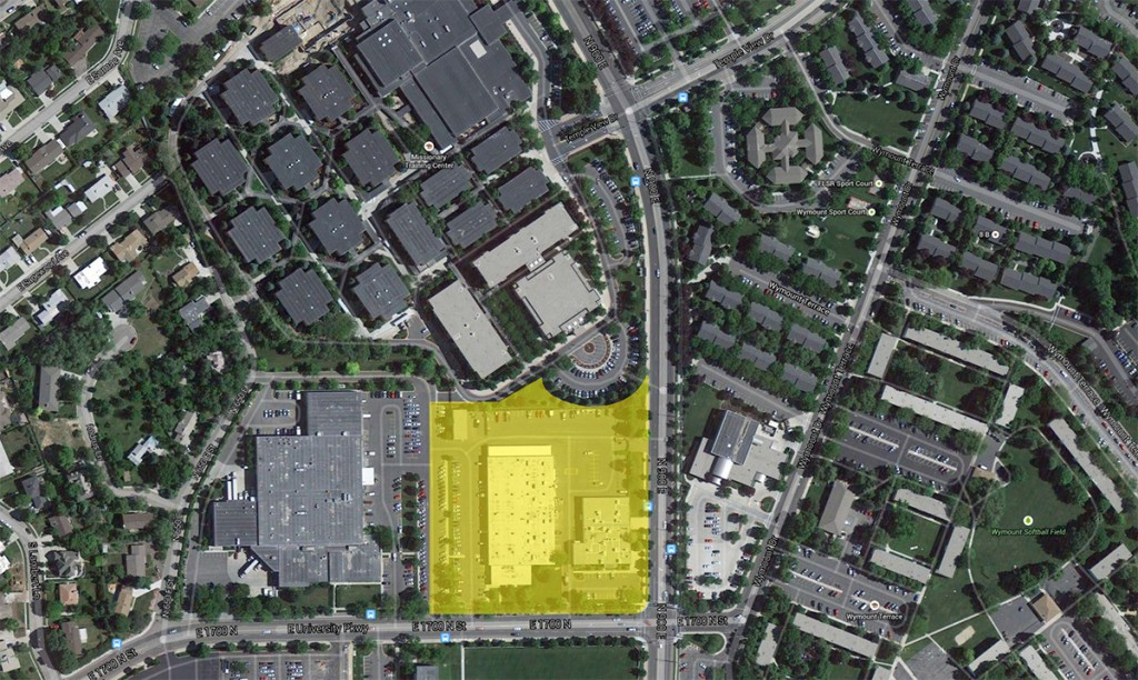 Area highlighted in yellow is approximately the area that will be affected by the MTC expansion.