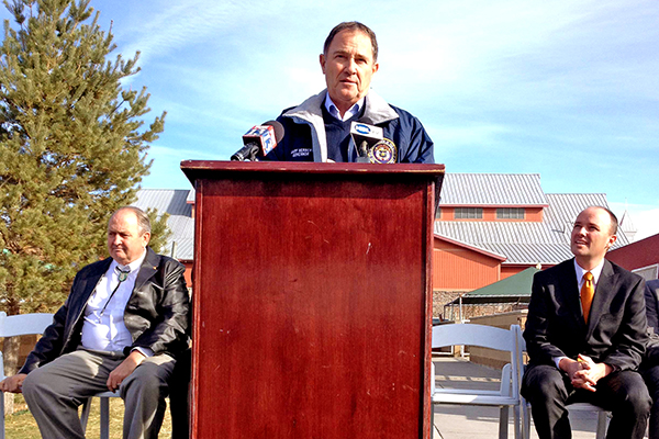 Governor Gary Herbert at Thanksgiving Point today.